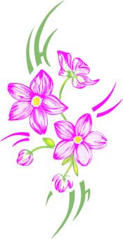 Тату цветы бесплатный пример